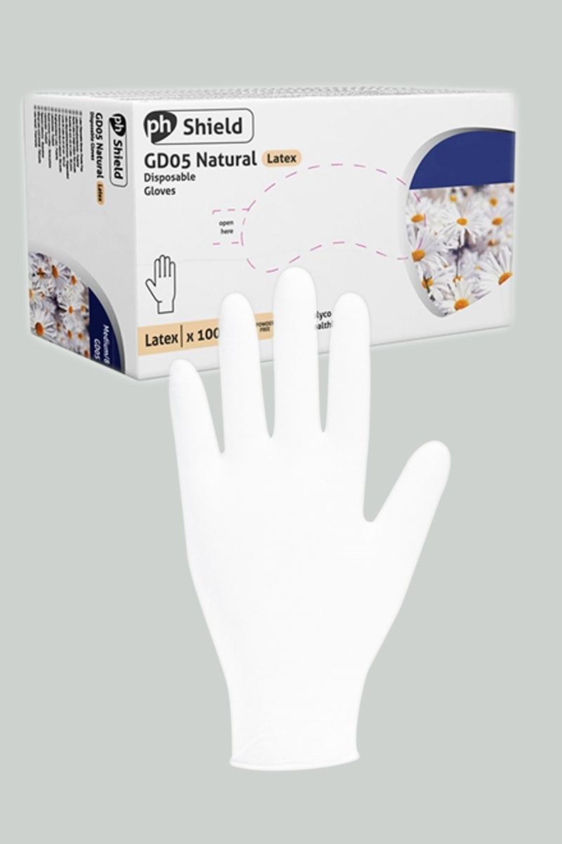 100 gants chirurgicaux en latex blanc