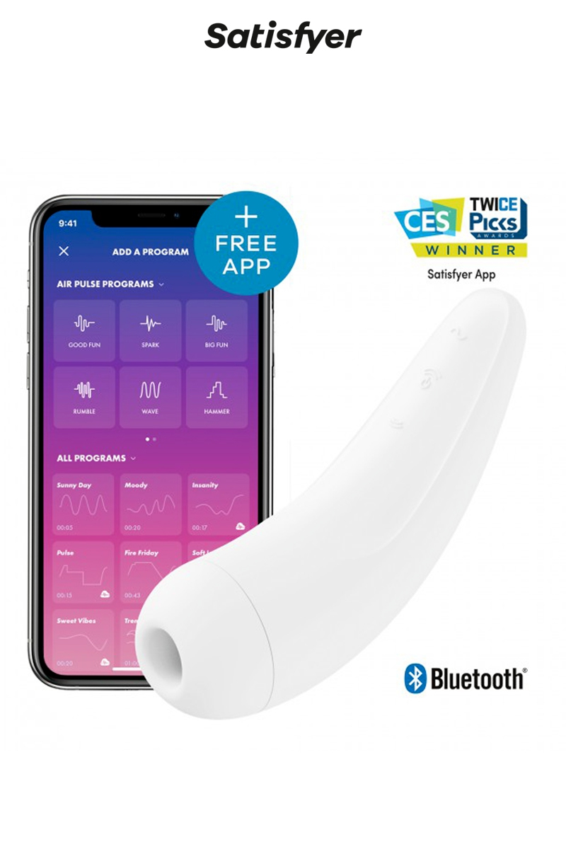 Stimulateur connecté Curvy 2+ blanc - Satisfyer