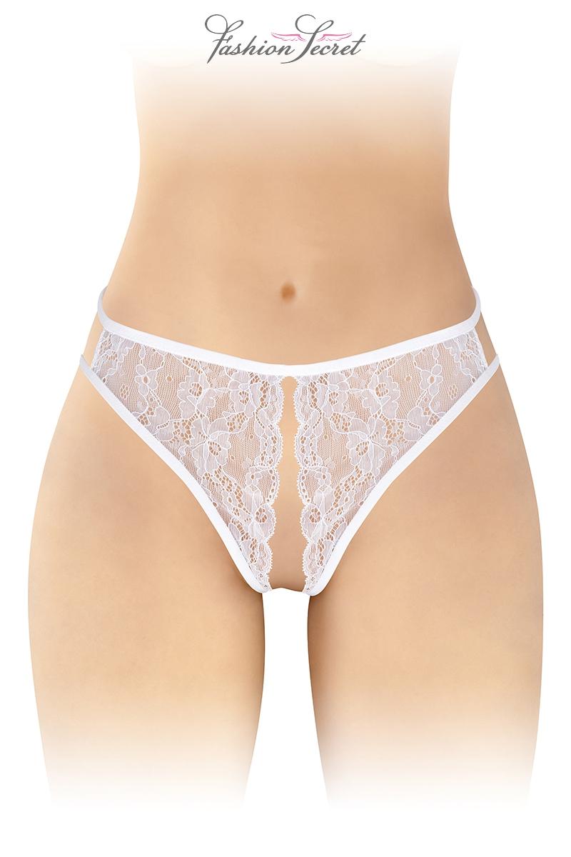 String blanc ouvert Victoria - Fashion Secret
