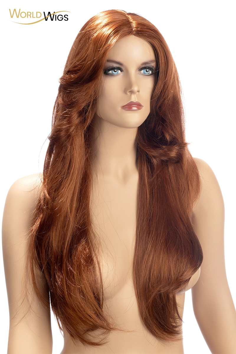 Perruque Rihana rousse - World Wigs