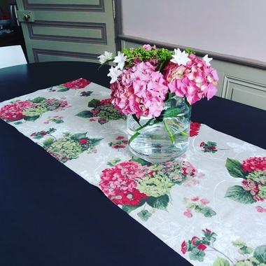 chemin-de-table-hortensia