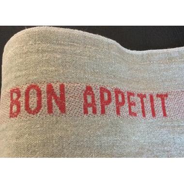 Torchon Bon appétit rouge 3
