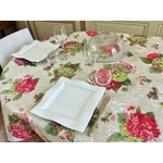 Nappe Hortensias roses