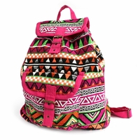 Sac à dos Indien rose multicolore