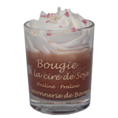 Bougie mini Chantilly Praliné 80 gr - 1a