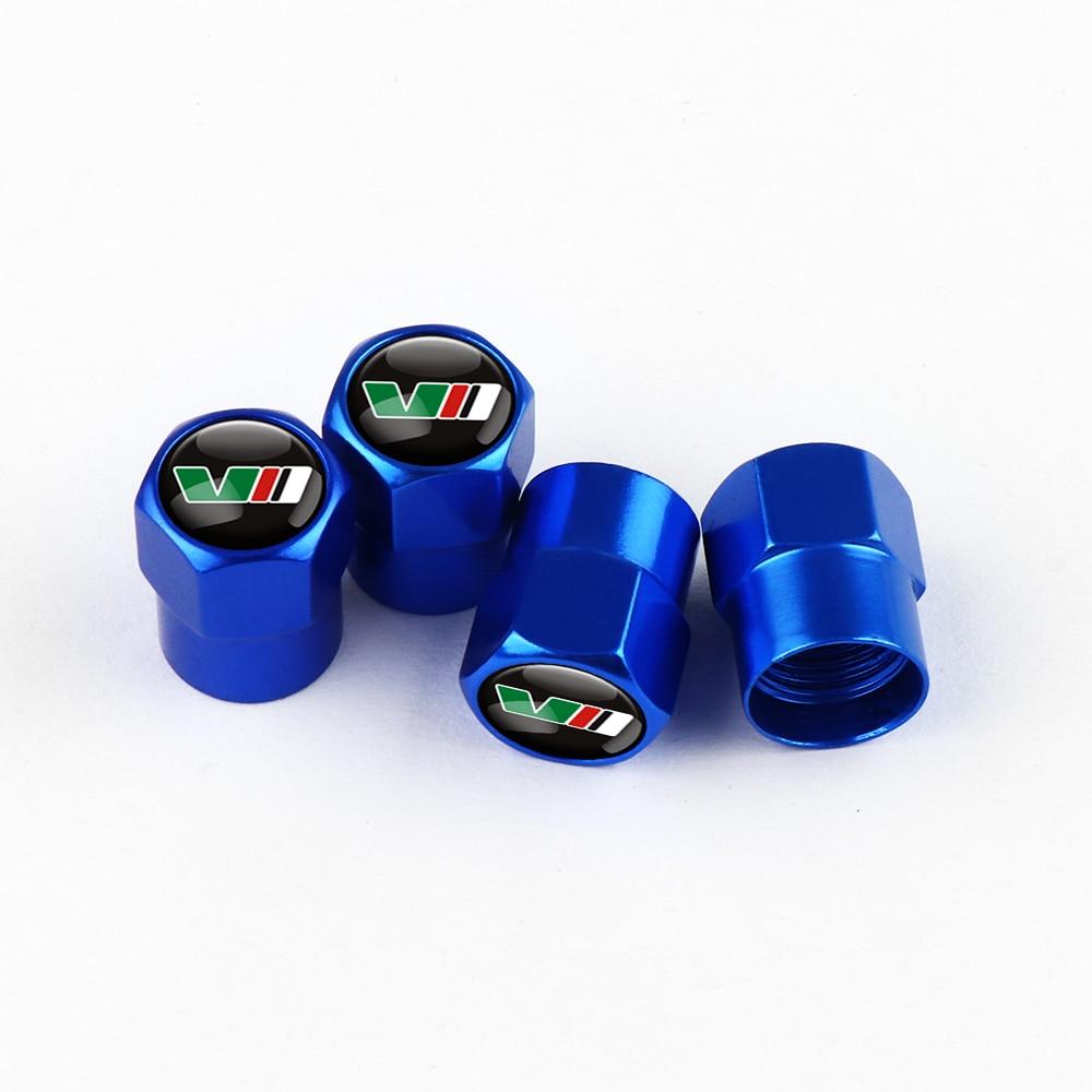 Capuchons-de-valves-de-roues-anti-poussi-re-embl-me-VII-pour-Skoda-Yeti-Roomster-Octavia
