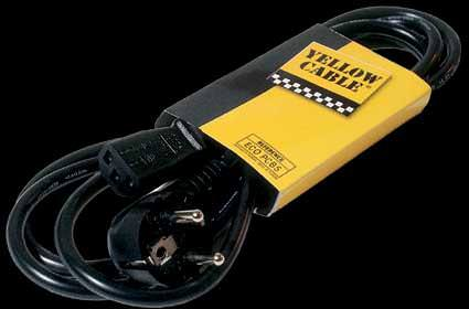 ALIMENTATION SECTEUR + TERRE SCHUKO PCB5 YELLOW CABLE
