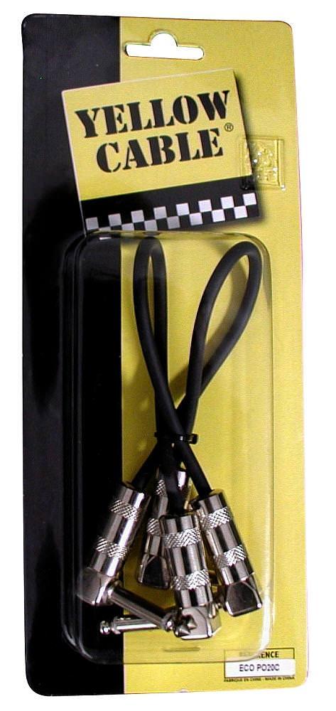 Cable patch P020C PATCH PEDALE 20 CM JACK METAL COUDE PAIRE