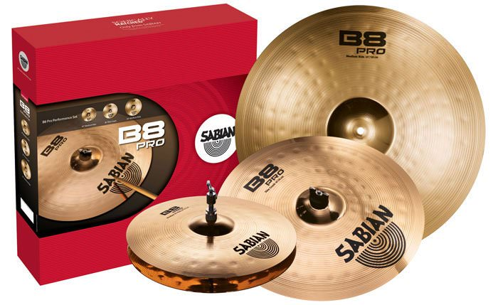 "PACK SABIAN B8 PRO - 1 Hi-Hat Regular 14 - 1 Thin Crash 16 - 1 Ride 20"" -"