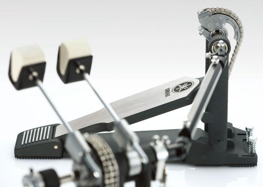 Pédale Grosse Caisse Yamaha - DFP9500C  Double pédale de grosse caisse, Transmission par chaîne, Batte à deux surfaces