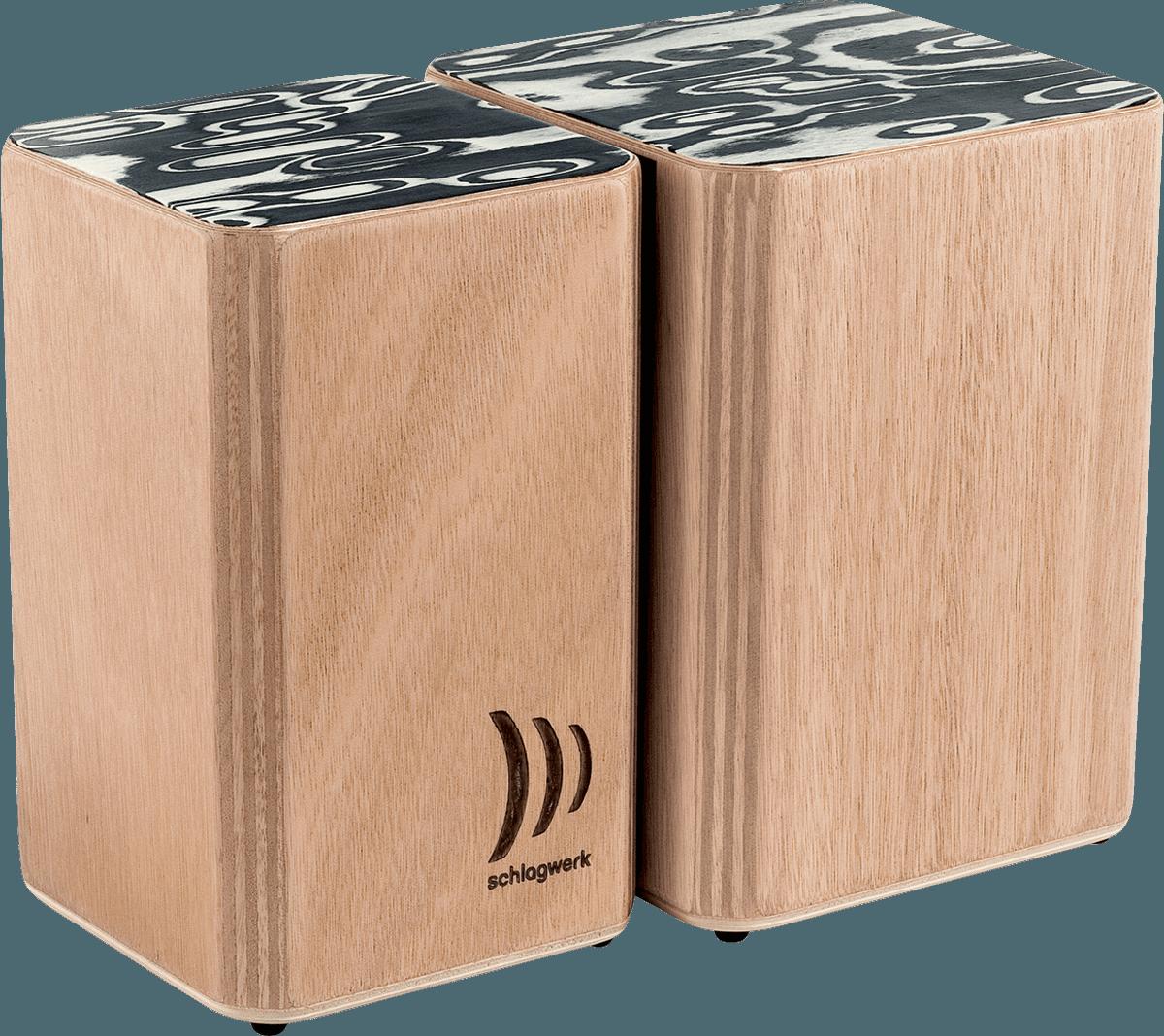 BONGO CAJON Schlagwerk - Wooden Bongos Velcro