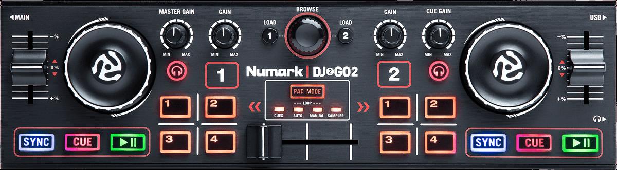 NUMARK DJ USB/MP3 CONTROLEUR DJ2GO2