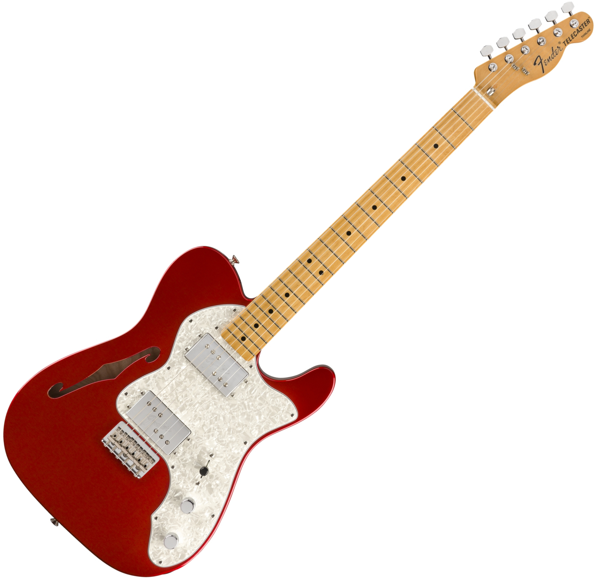 FENDER GUITARE TELECASTER VINTERA 70\'S THINLINE CANDY APPLE RED 014-9742-309