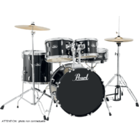 PEARL ROADSHOW ROCK 22 5 FUTS JET BLACK