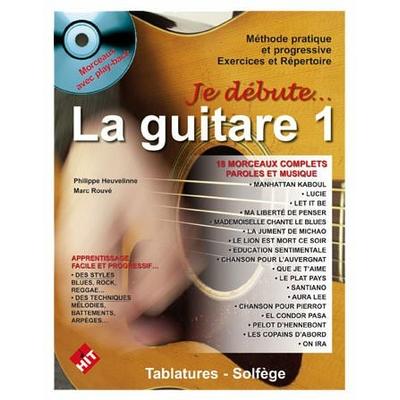 Partition Guitare Hit Diffusion - Je débute la guitare + CD et DVD