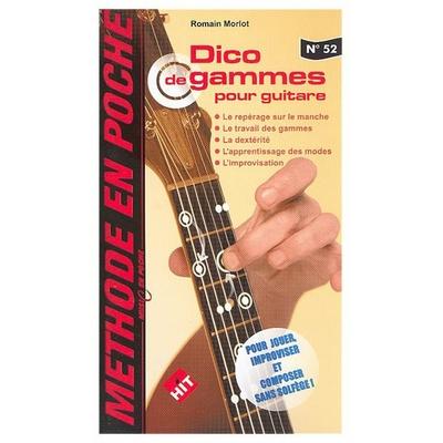 Partition Guitare Hit Diffusion - Music en poche Dico de gammes pour guitare