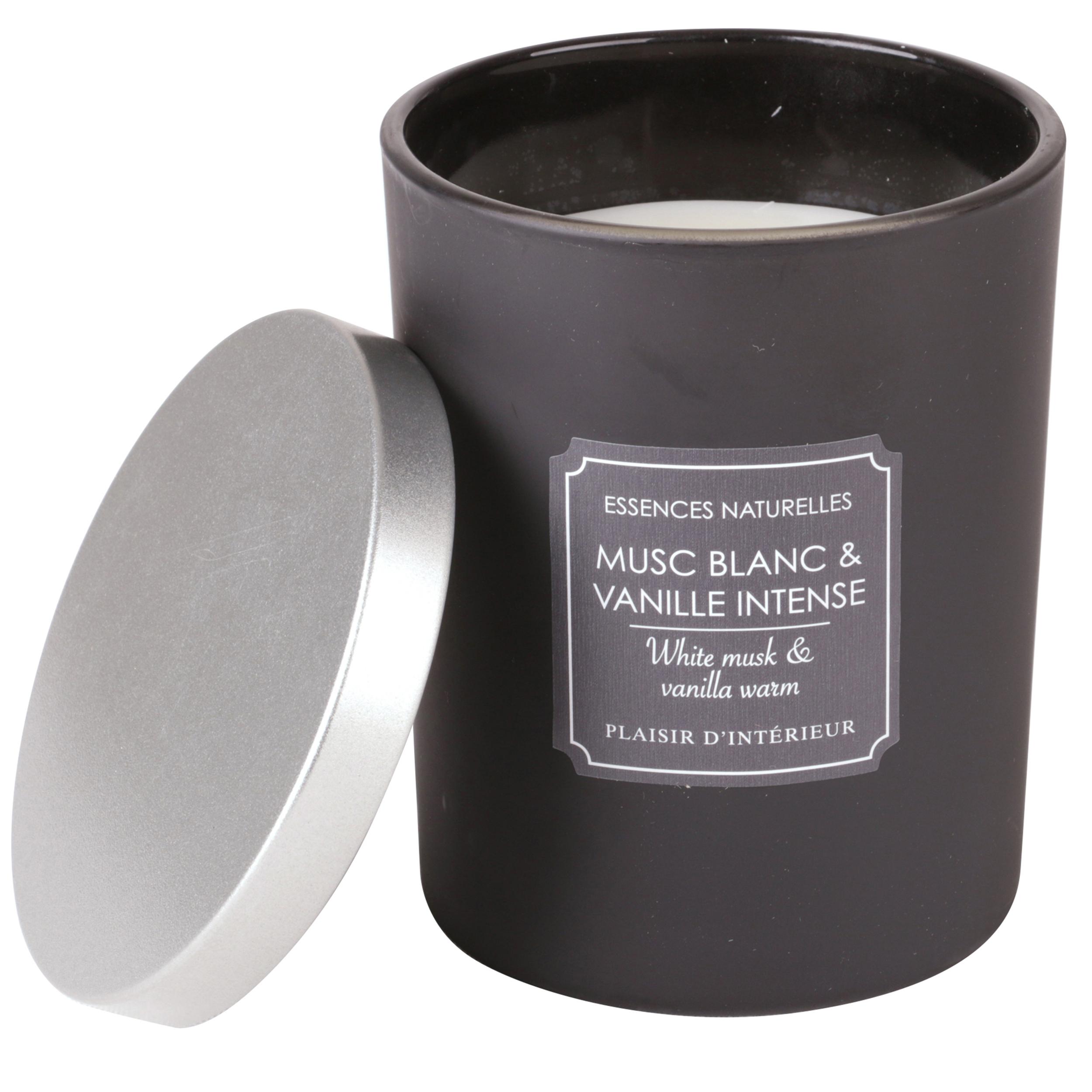 BOUGIE PARFUMEE MUSC BLANC & VANILLE INTENSE (L)