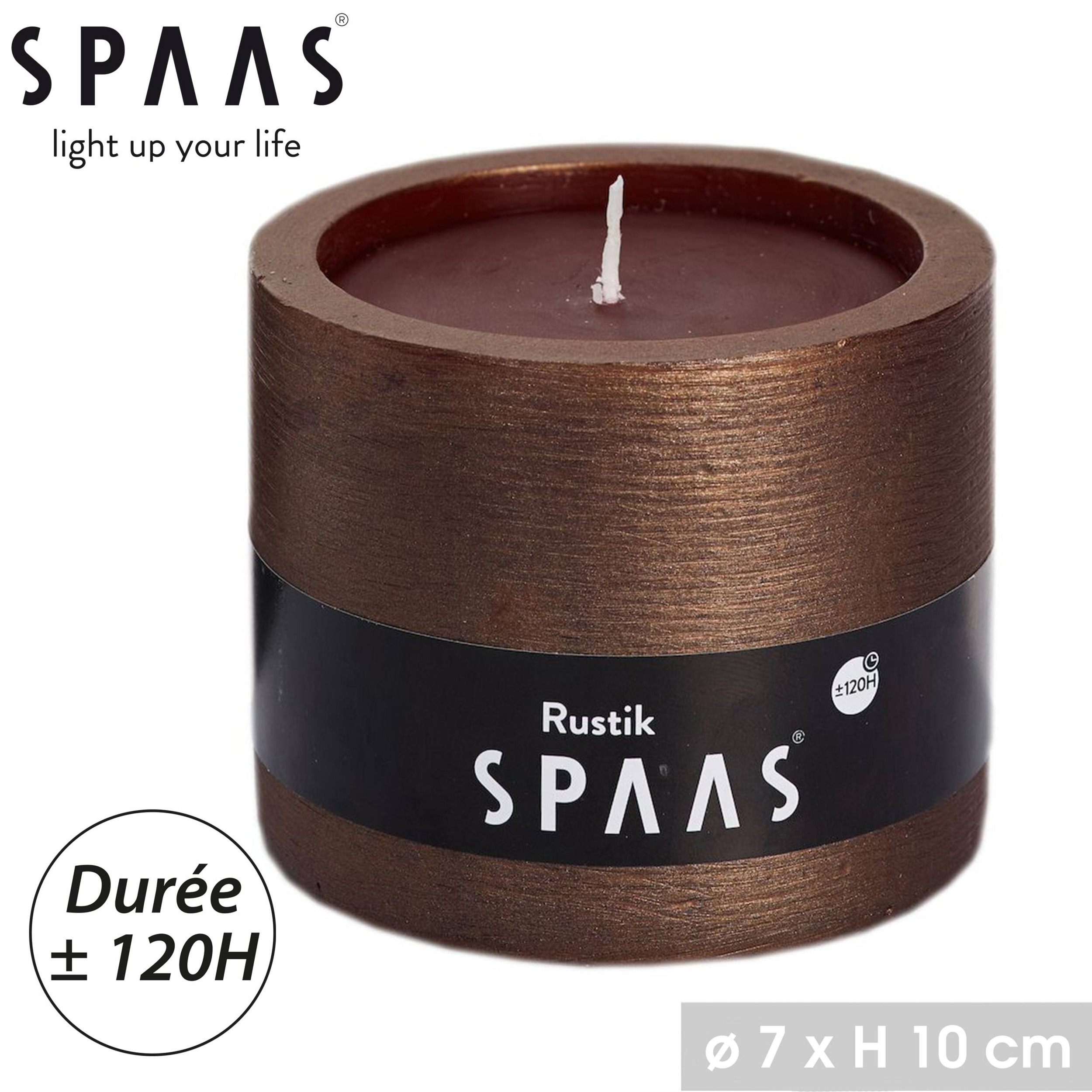 BOUGIE LAMPION SPAAS COULEUR BRONZE