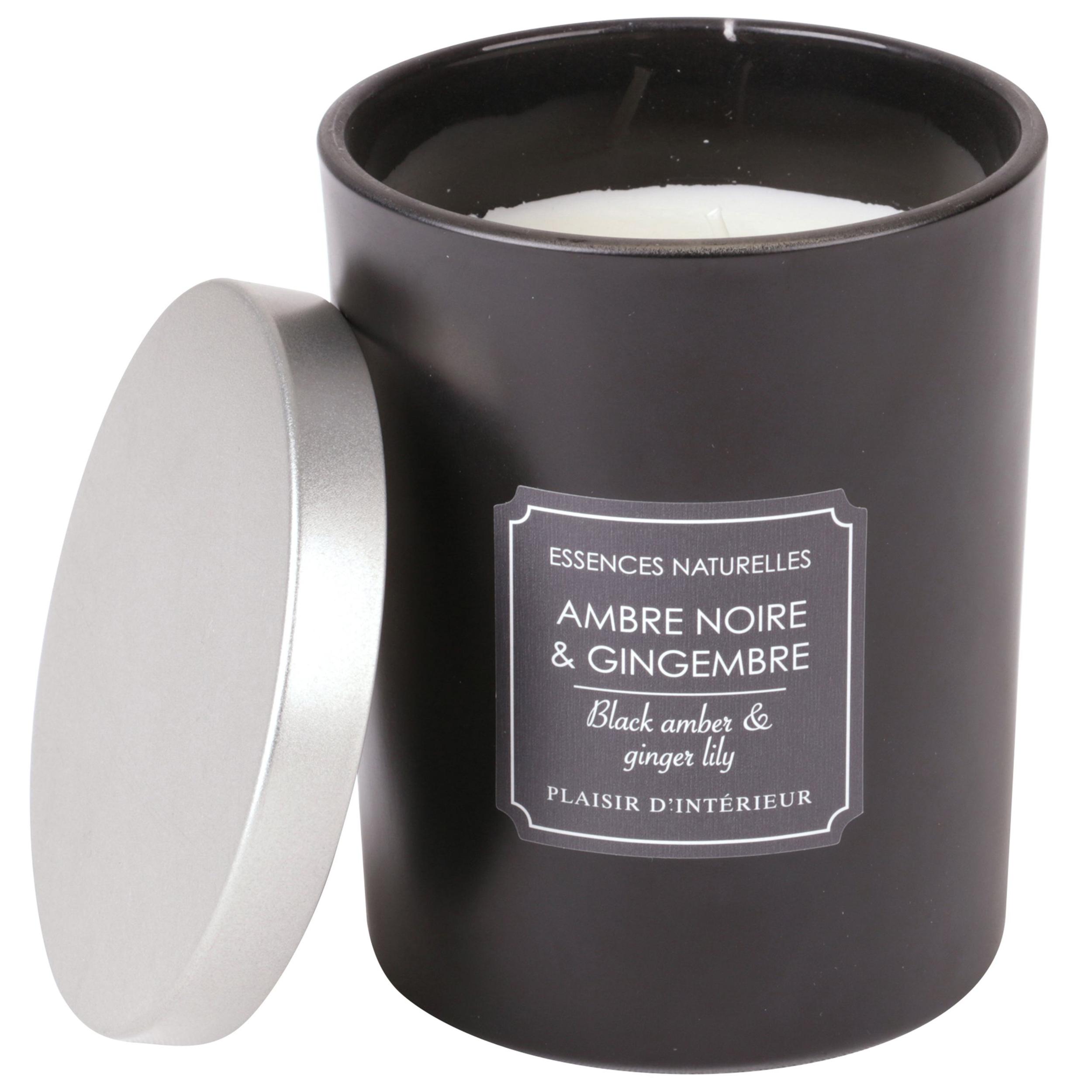 BOUGIE PARFUMEE AMBRE NOIRE & GINGEMBRE (L)