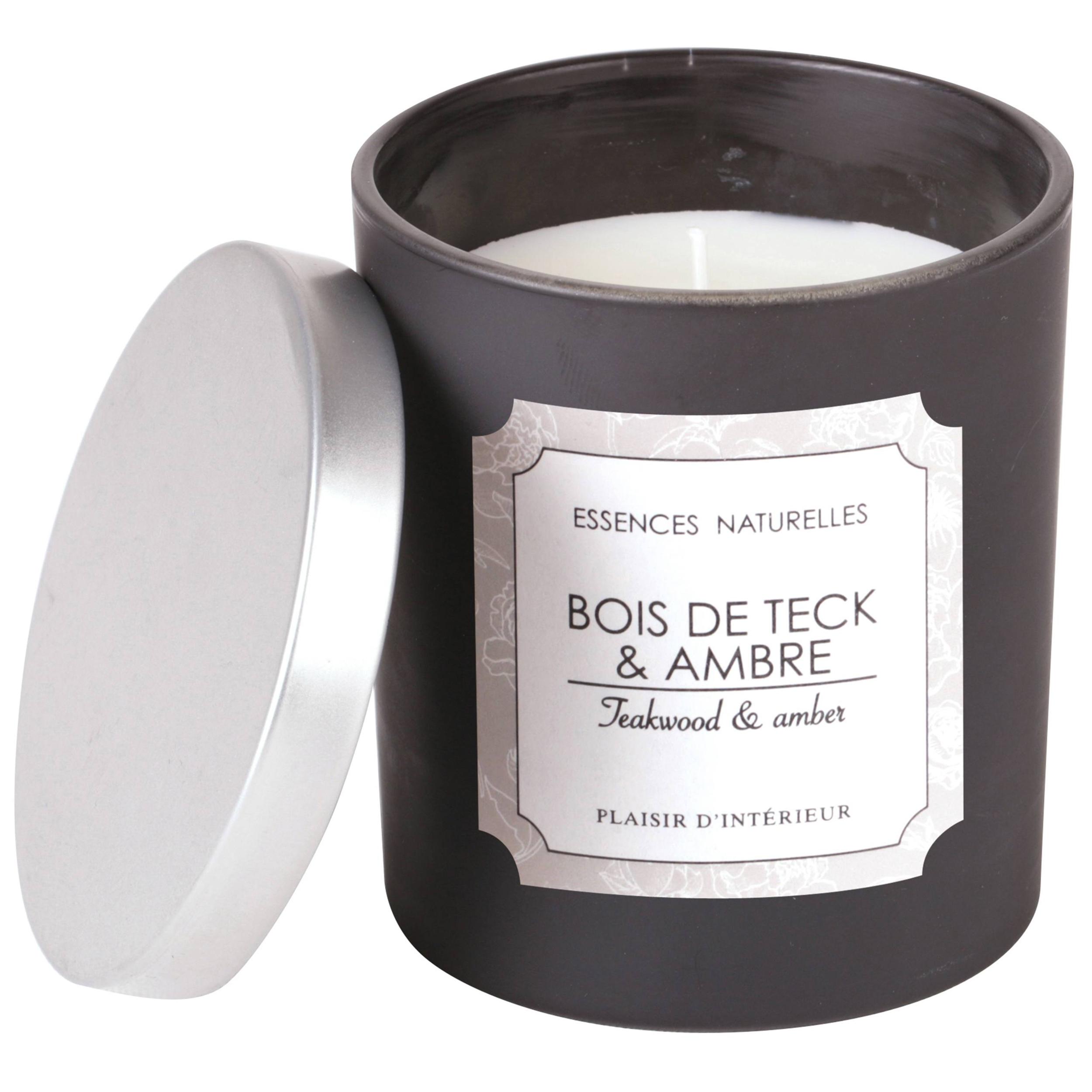 BOUGIE PARFUMEE BOIS DE TECK & AMBRE (S)
