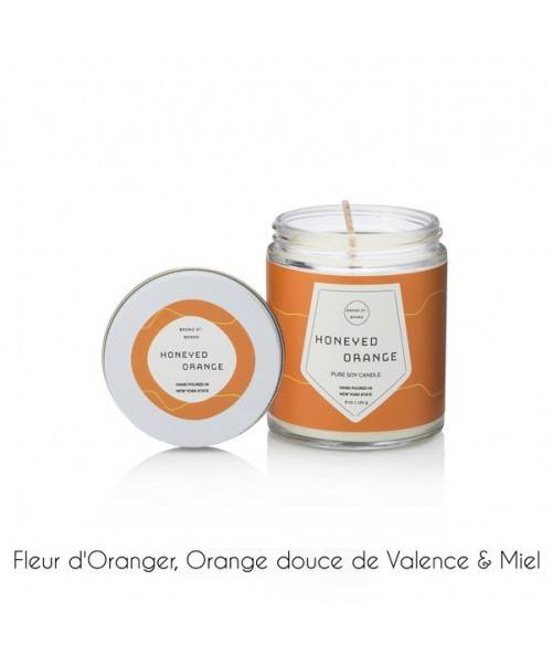 BOUGIE BROAD HONEYED ORANGE 170G