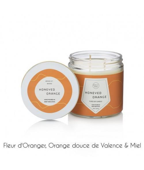 BOUGIE BROAD HONEYED ORANGE 450G