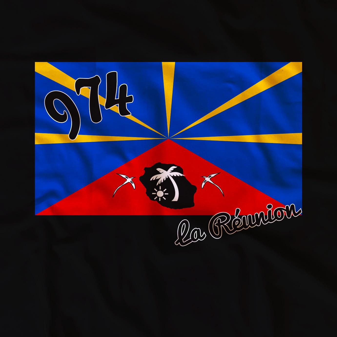 T-shirt adulte Drapeau de la Réunion