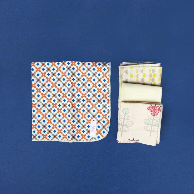 mouchoir réutilisable en tissu coton bio