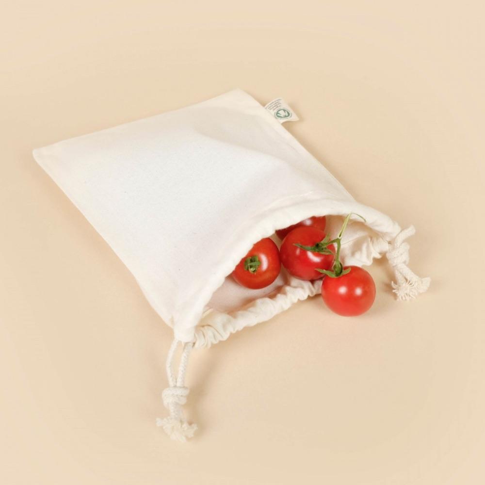 Sacs à vrac zéro déchet réutilisables en coton bio pour fruits et légumes