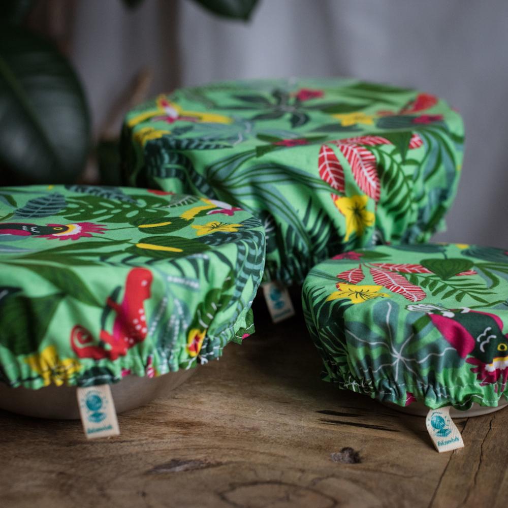 couvre plat réutilisable en tissu