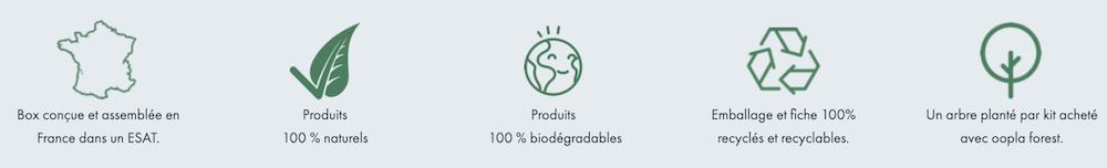 Avantages de la box de produits beauté ecologiques