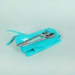 kit de couverts en inox avec pochette bleue