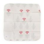 mouchoir réutilisable en coton avec motif de fleurs