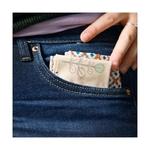 mouchoir réutilisable et lavable en coton dans une poche en jean