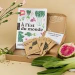 Box jardinage avec des aromates et légumes