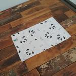 debarbouillette lavable avec motif panda