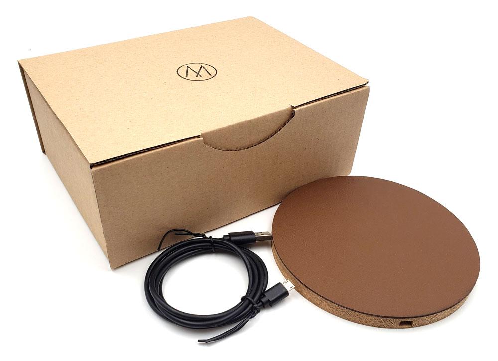 Chargeur à induction MDISK (cuir)