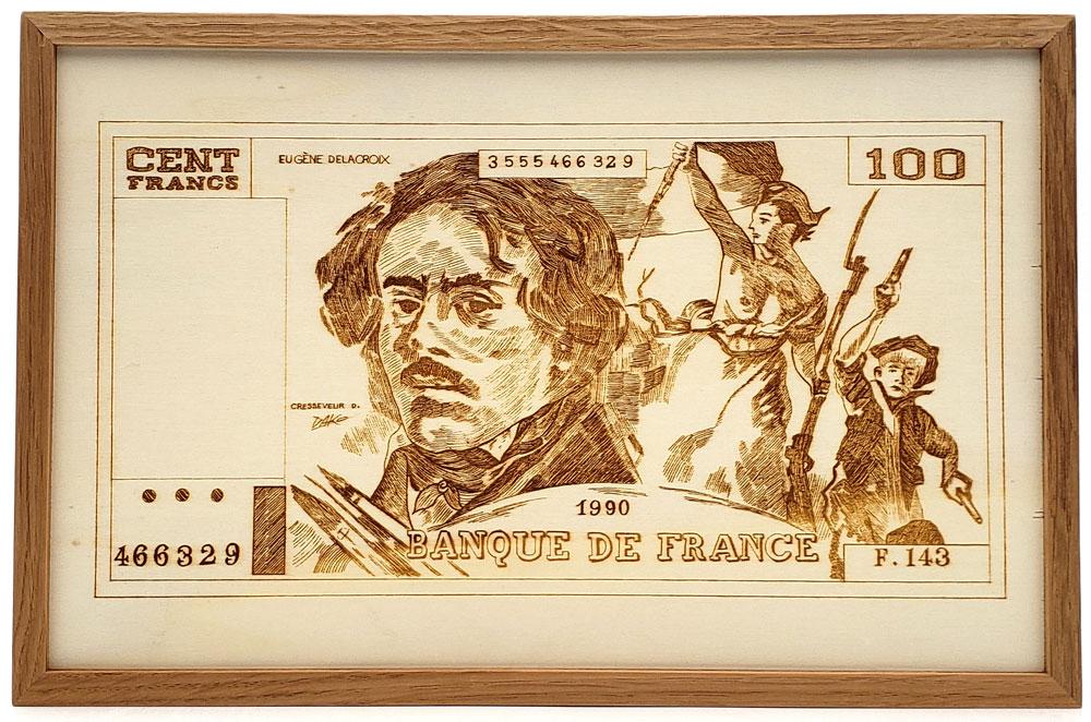Gravure 100F Delacroix