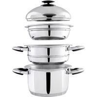 Ensemble cuit-vapeur + cuisson à l'étouffée