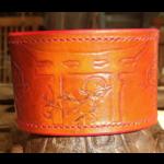 Inspiration Japon - bracelet cuir repoussé