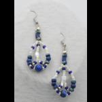 Lapis Symphonie - Boucles doreilles Lapis Lazuli et perles