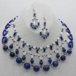 """""""Lapis Symphonie"""" - ParureLapis Lazuli et perles"""