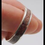 Inlay - Bague-Argent-Rhodonite