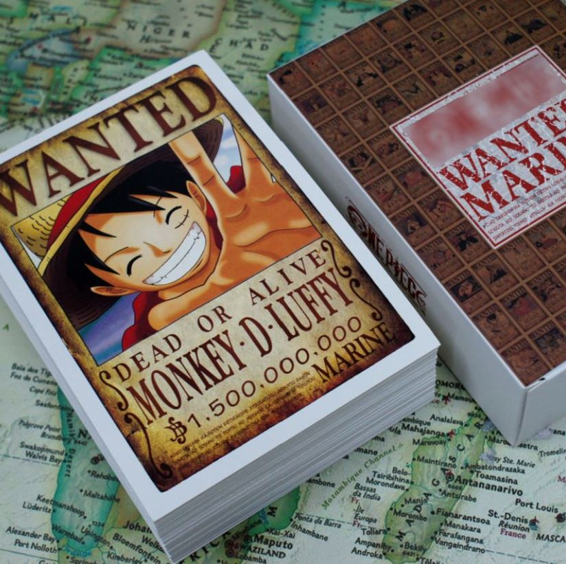 Pack One Piece 100 Affiches Wanted