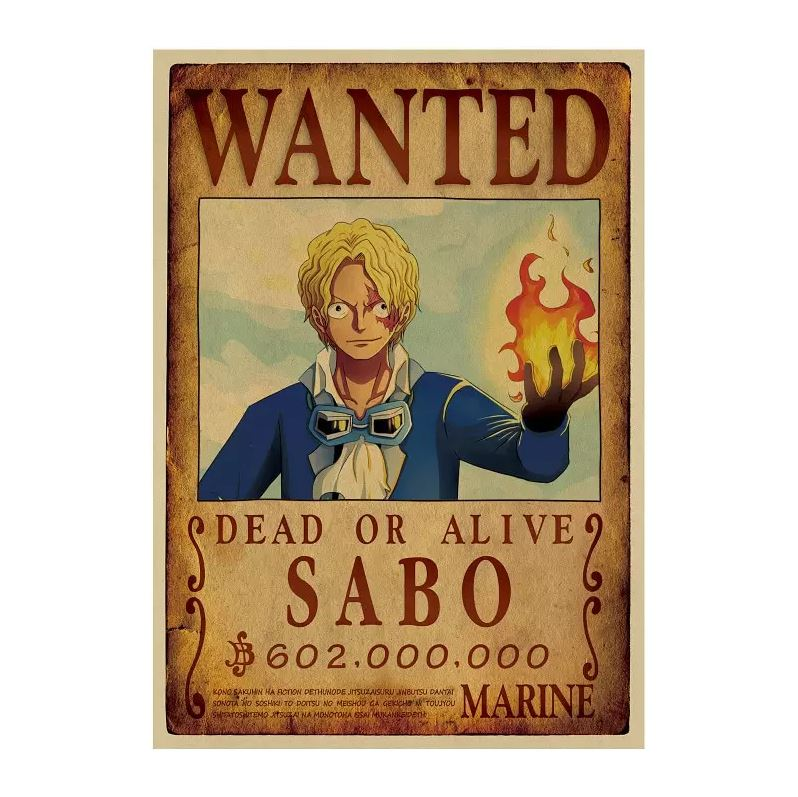 Affiche Wanted One Piece Sabo