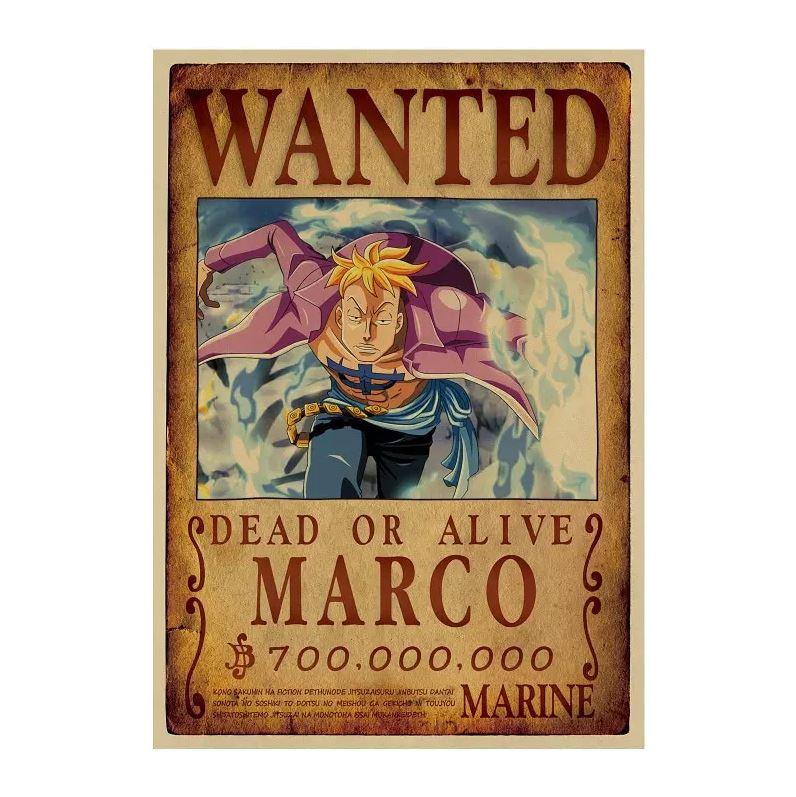 affiche wanted avis de recherche marco one piece