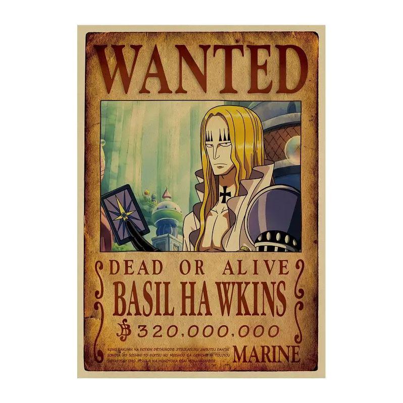 affiche wanted avis de recherche basil hawkins one piece