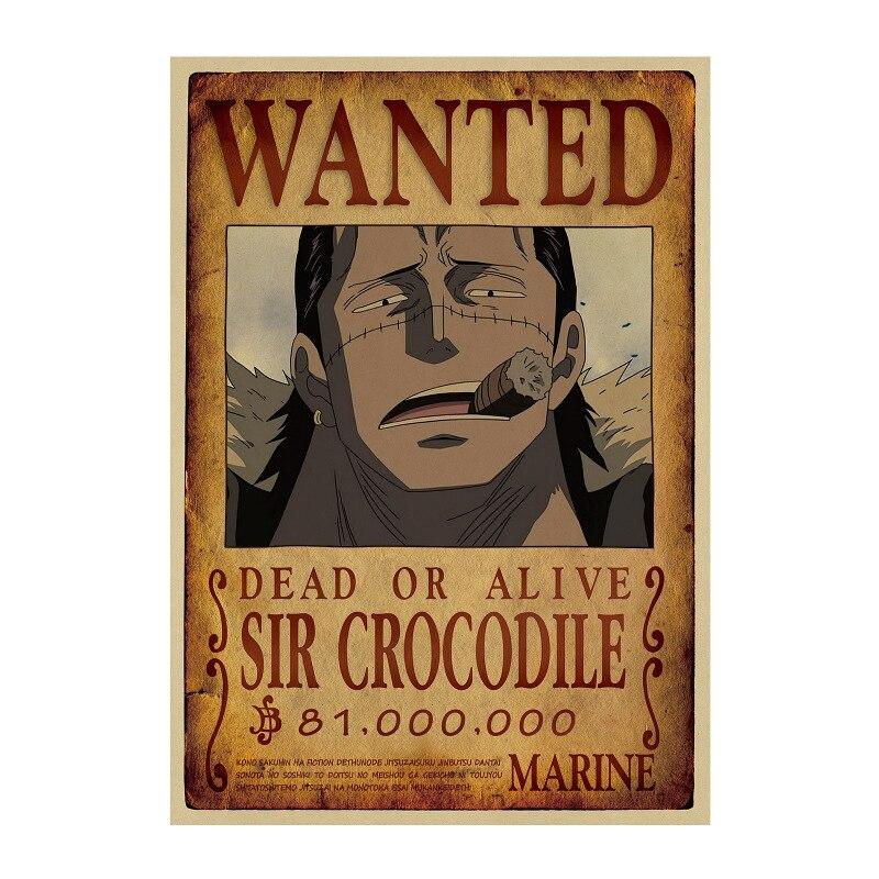 Affiche Wanted One Piece Sir Crocodile