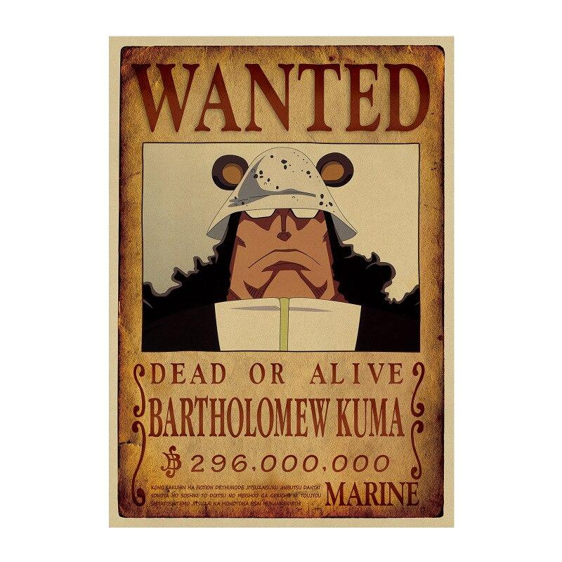 Affiche Wanted One Piece Bartholomew Kuma