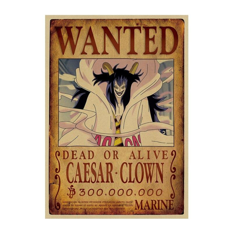 affiche wanted avis de recherche caesar clown one piece